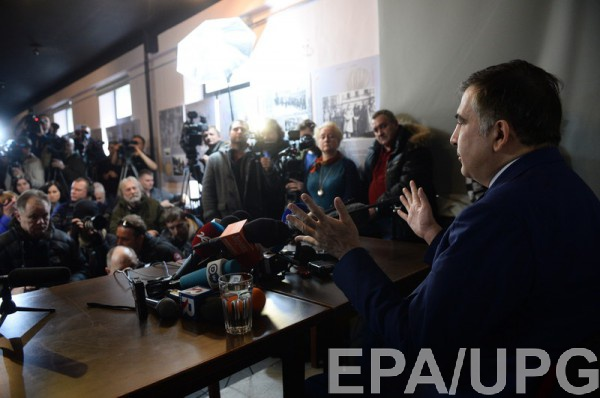 В Варшаве Саакашвили рассказал о барыгах и бандерлогах