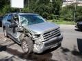 В Киеве внедорожник врезался в маршрутку c пассажирами