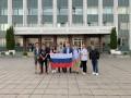 Над Донецком вместо символики боевиков вывесили флаг России