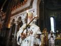 Патриарх Филарет отслужил первую литургию в Софии Киевской
