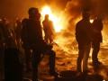 Майдан и Грушевского: как прошла ночь на баррикадах (ФОТО)