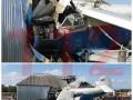 В Чечне легкомоторный самолет упал на частный дом, люди выжили