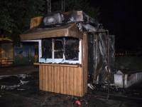 В Киеве сгорел кофейный киоск