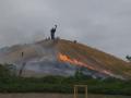 Во время празднования Дня города Черкасс загорелся Холм славы