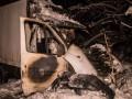 Возле ВДНХ сгорел грузовик с водителем