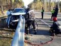 На Киевщине отбойник проткнул авто, есть жертвы