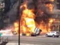 В центре Алматы взорвался бензовоз и загорелся дом