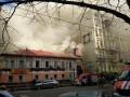 Большой пожар в центре Киева: во время тушения погибли спасатели