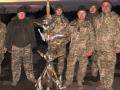 Украинские военные собрали елку из боеприпасов, которые прилетели от сепаратистов