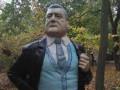 В Запорожье памятник Ленину переделали в Порошенко
