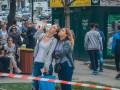 В Киеве на Крещатике обрушилась часть балкона