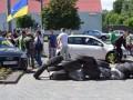 Посольство России в Киеве забросали яйцами и зеленкой