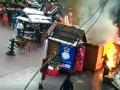 Люди в огне: Появилось жуткое видео взрыва на львовской ярмарке