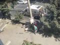 В Сумах авто полиции влетело в толпу пешеходов