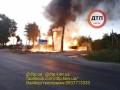 Под Киевом сгорела АЗС: Один человек получил ожоги