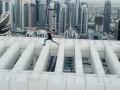 Появилось видео смертельного трюка руфера в Дубае