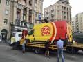 Коммунальщики очищают центр Киева от машин с кофе и шаурмой