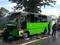 В Харькове на ходу загорелся автобус с пассажирами