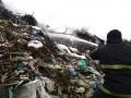 В Полтавской области горела свалка