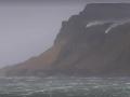 Шторм в Британии заставил водопад течь вверх