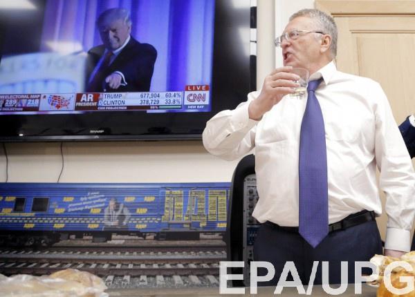 Жириновский объявил, что выпьет шампанское заимпичмент Трампа