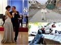 День в фото: Годовщина семьи Обамы, Папа Римский на руинах итальянского города и памятник коту в Стамбуле