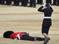 Упавший на юбилее королевы гвардеец стал героем фотожаб