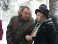 Верующие УПЦ МП молились в снегу под Радой