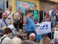 Саакашвили облили зеленкой в Кривом Роге