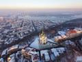 Заснеженный Киев: 19 аэрофото Подола