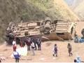 В Перу автобус рухнул в пропасть, есть жертвы