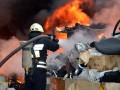 В Днепре произошел крупный пожар на металлобазе