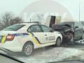 Под Киевом случилось тройное ДТП с участием авто полиции