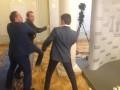 Появилось видео драки депутатов Соболева и Ивченко в Раде