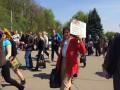 Коммунисты завершили митинг возле музея истории ВОВ в Киеве