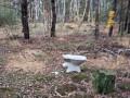 В Киеве в глубокой лесной чаще обнаружили унитаз