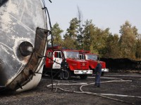 Аваков назвал причину пожара на нефтебазе под Киевом