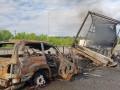 Под Киевом Lexus протаранил фуру и сгорел вместе с водителем