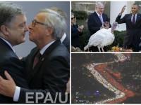 День в фото: саммит Украина-ЕС, День благодарения в США и гигантская пробка