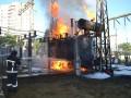 В Одессе горела элекроподстанция: тысячи людей остались без света