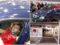 В Харькове водитель снес двери супермаркета и ездил по залу
