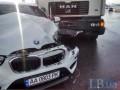 На Дарницком шоссе грузовик столкнулся с BMW