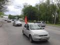 В Запорожье произошла стычка активистов с участниками Полка Победы