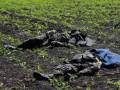 Последствия боя на Донбассе: трупы солдат и сгоревшая БМП (фото)