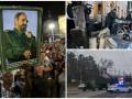 День в фото: военная техника РФ в Симферополе, прощание с Кастро и акция под Радой