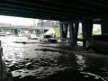 Ливни в Киеве: машины на Левобережной плавают в воде