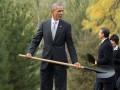 Обама с Путиным в Пекине посадили сосны