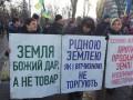 Под Радой продолжаются протесты против рынка земли