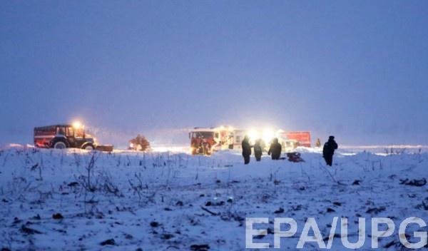 Место крушение Ан-148 в Подмосковье