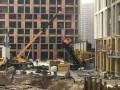 На стройке в Киеве упал кран